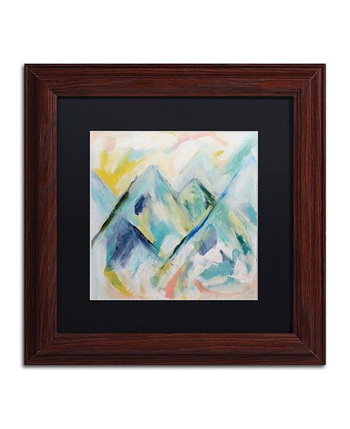 "Trademark Global Carrie Schmitt 'Mile High' Matted Framed Art - 11"" x 11"""