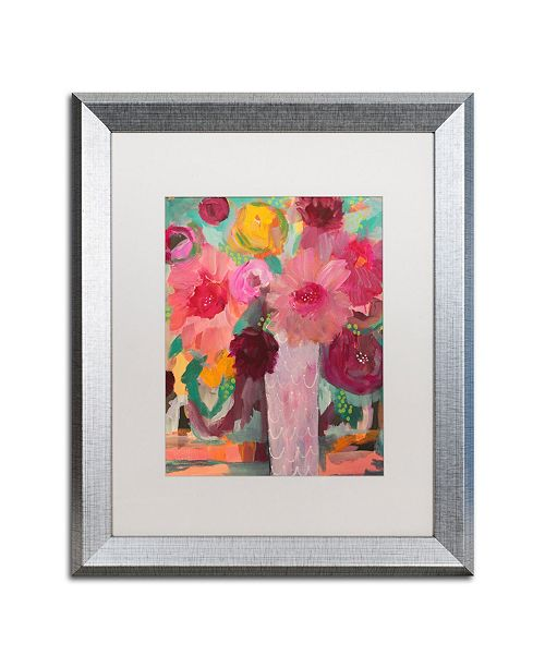 "Trademark Global Carrie Schmitt 'Surrender Softly' Matted Framed Art - 16"" x 20"""