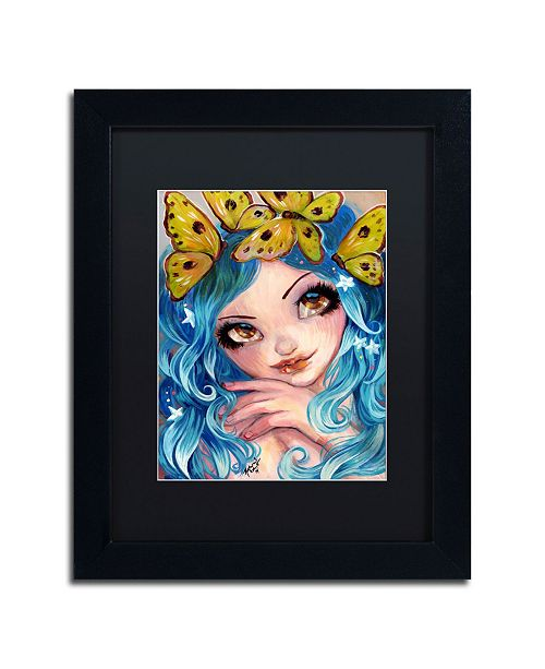 "Trademark Global Natasha Wescoat 'Crown Of Butterflies' Matted Framed Art - 11"" x 14"""
