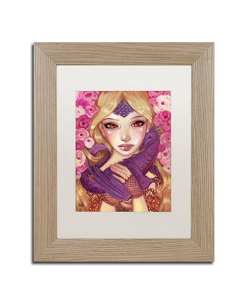 "Trademark Global Natasha Wescoat 'Dragon Kin' Matted Framed Art - 11"" x 14"""