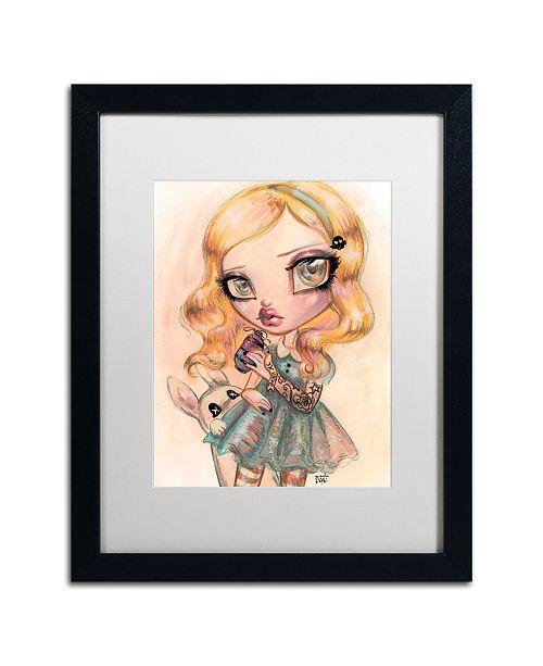 "Trademark Global Natasha Wescoat 'Drink Me' Matted Framed Art - 16"" x 20"""