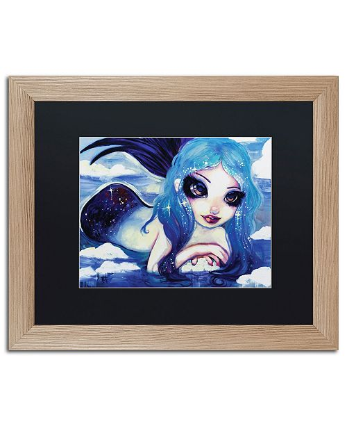 "Trademark Global Natasha Wescoat 'Ice Mermaid' Matted Framed Art - 16"" x 20"""