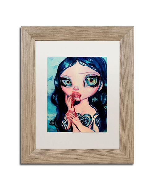 "Trademark Global Natasha Wescoat 'Just A Taste' Matted Framed Art - 11"" x 14"""