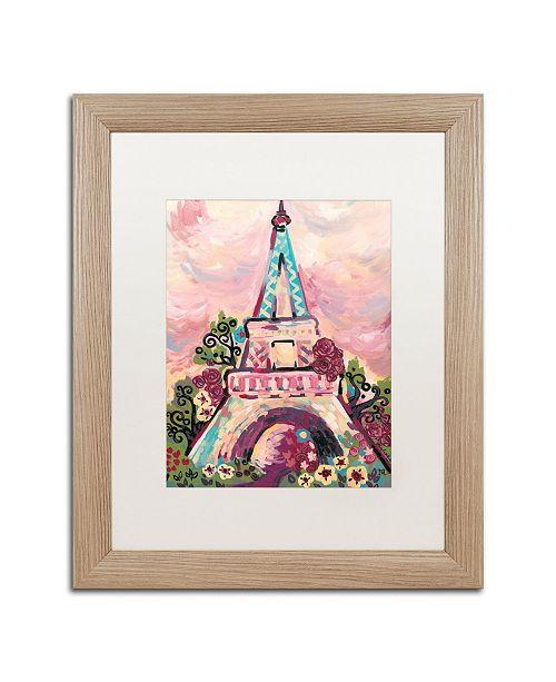 "Trademark Global Natasha Wescoat 'Lumiere De La Ville' Matted Framed Art - 16"" x 20"""
