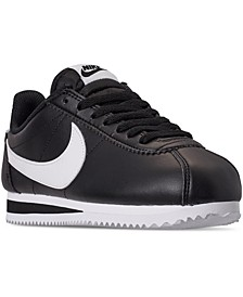 Women's Classic Cortez Leather Casual Sneakers from Finish Line