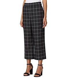 Petite Shannon Cropped Plaid Pants