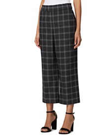 Tahari ASL Petite Shannon Cropped Plaid Pants