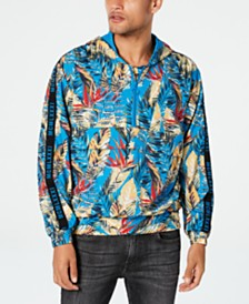 GUESS Men's Half-Zip Tropical Hoodie