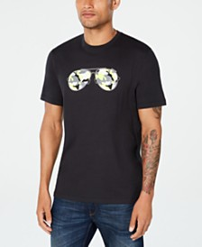 Michael Kors Men's Neon Camo Aviator Graphic T-Shirt