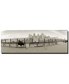 "Preston 'New York Bench' Canvas Art - 32"" x 10"""
