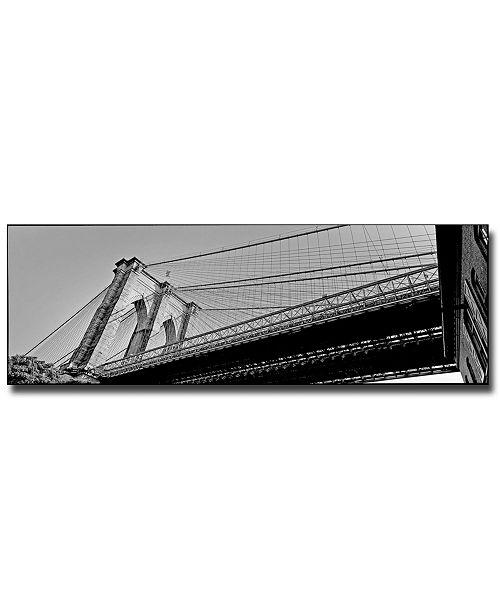 "Trademark Global Preston 'Brooklyn Bridge' Canvas Art - 32"" x 10"""