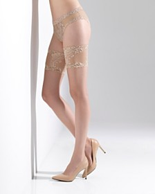Natori Silky Sheer Lace Top Thigh High, Online Only