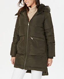 BCBGeneration Fleece-Lined Hooded Puffer Coat