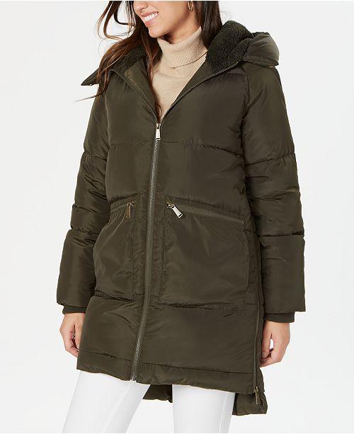 BCBGeneration Fleece-Lined Hooded Puffer Coat