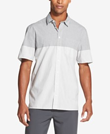 DKNY Men's Two-Tone Gingham Check Shirt