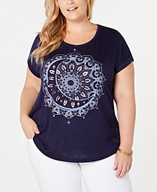 Plus Size Moon-Graphic T-Shirt, Created for Macy's