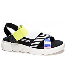 Dirty Laundry All Time Stripe Flat Sandals