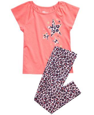 Little Girls Leopard Stars T-Shirt, Created for Macy's