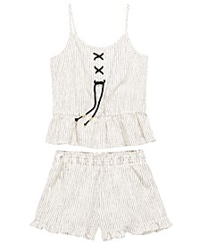 Big Girls 2-Pc. Striped Tank Top & Shorts Set, Created for Macy's
