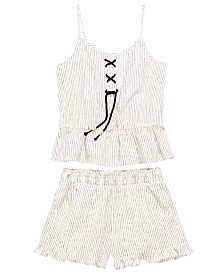 Epic Threads Big Girls 2-Pc. Striped Tank Top & Shorts Set, Created for Macy's