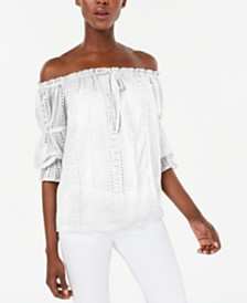 I.N.C. Ruffled Off-The-Shoulder Blouse, Created for Macy's