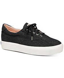 Rise Denim Lace-Up Sneaker
