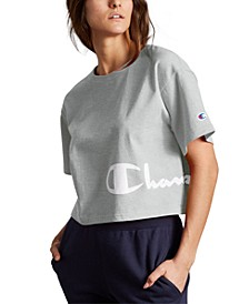 Heritage Script-Logo Cropped T-Shirt