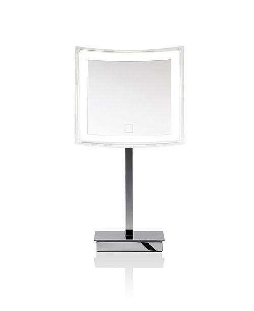 WS Bath Collections Free Standing Lighted Magnifying Mirror in Polished Chrome