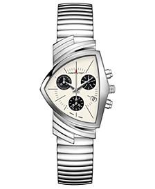 Unisex Swiss Chronograph Ventura Stainless Steel Bracelet Watch 32.3x50.3mm
