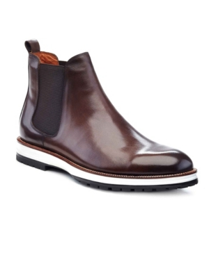 Ike Behar Men's Liam Chelsea Boots Men's Shoes In Brown