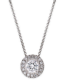 TruMiracle® Diamond Halo Pendant Necklace in 14k White Gold (1/2 ct. t.w.)