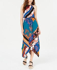 FISHBOWL Juniors' Handkerchief-Hem Maxi Dress