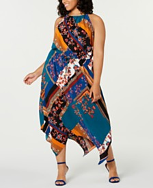 Fishbowl Trendy Plus Size Halter Maxi Dress
