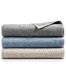 Linen-Blend Sculpted Bath Towel Collection, Created for Macy's