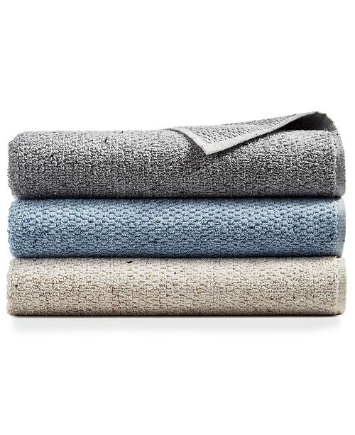 """Hotel Collection Linen-Blend Sculpted 20"""" x 30"""" Hand Towel, Created for Macy's"""