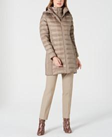 Michael Michael Kors Hooded Packable Down Puffer Coat