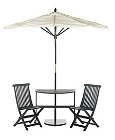 Evert Half Patio Set And Umbrella