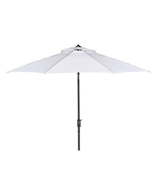 Safavieh Ortega 9' Auto Tilt Crank Umbrella, Quick Ship