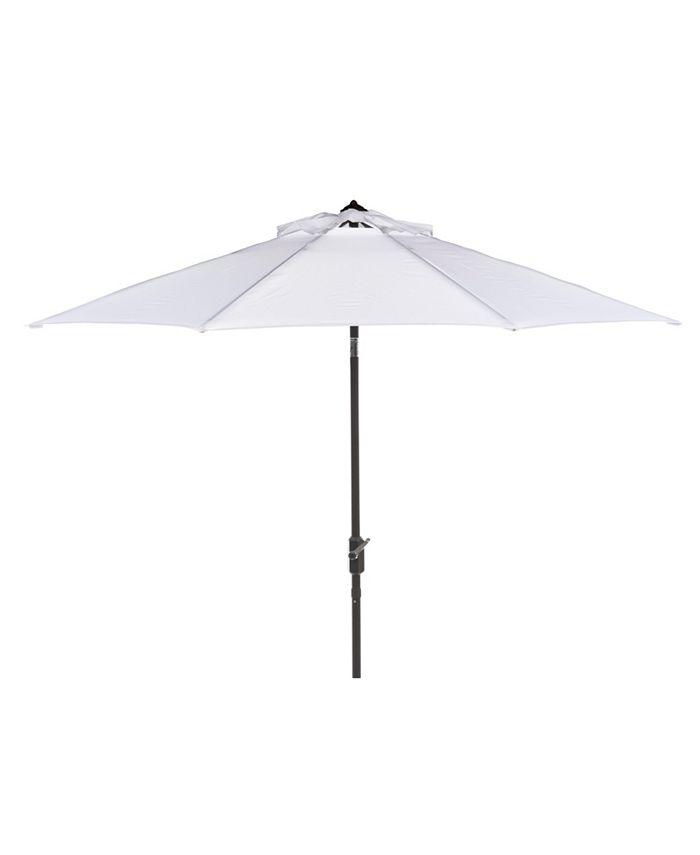 Safavieh - Ortega 9' Auto Tilt Crank Umbrella, Quick Ship