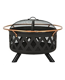 Bryce Round Fire Pit, Quick Ship