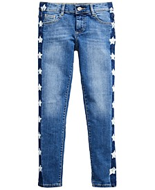 Big Girls Star-Wash Skinny Jeans