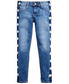 GUESS Big Girls Star-Patch Skinny Jeans