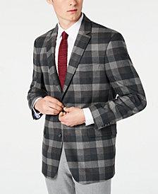 Tommy Hilfiger Men's Modern-Fit THFlex Stretch Green/Gray Plaid Sport Coat