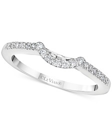 Le Vian® Vanilla Diamond® Curved Band (1/6 ct. t.w.) in 14k White Gold