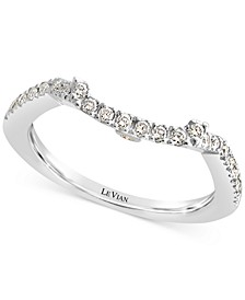 Vanilla Diamond® Curved Band (1/5 ct. t.w.) in 14k White Gold
