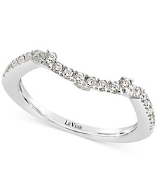 Le Vian® Vanilla Diamond® Curved Band (1/5 ct. t.w.) in 14k White Gold
