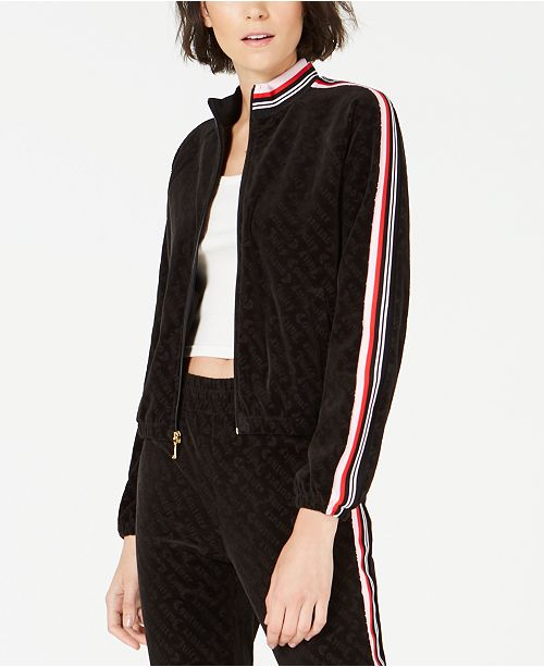 Juicy Couture Embossed Velour Track Jacket