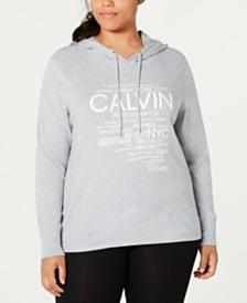 Calvin Klein Performance Plus Size Logo Hoodie T-Shirt