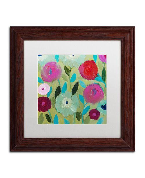 """Trademark Global Carrie Schmitt 'Peace' Matted Framed Art - 11"""" x 11"""""""