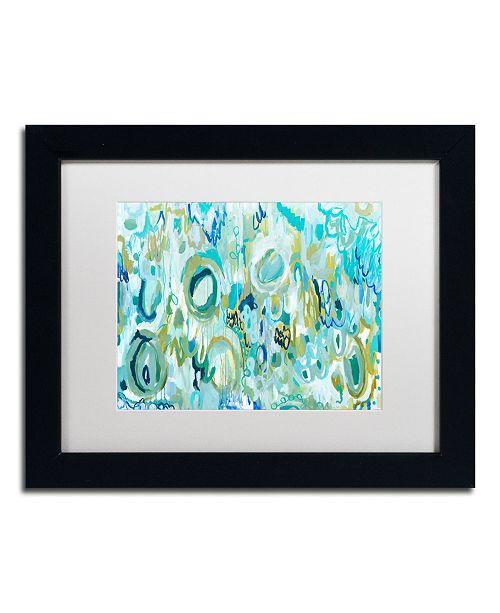"""Trademark Global Carrie Schmitt 'Ujjayi Pranayama' Matted Framed Art - 11"""" x 14"""""""
